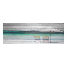 "1st Avenue - By the Beach Fine Art Canvas Print by Parvez Taj, 60""x20"" - Fine Art Prints"