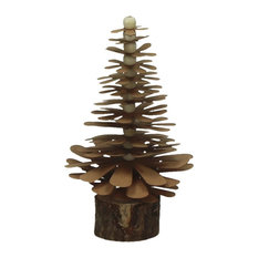 Pomax Paper Pinecone Christmas Trees, Small, Set of 6