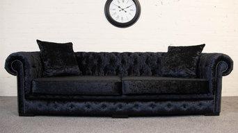 Black Crushed Velvet Essex Chesterfield Sofa