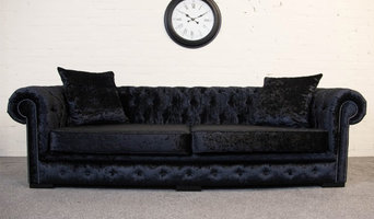 Black Crushed Velvet Essex Chesterfield Sofa