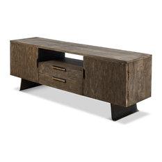 TV Console, Rift, Wood/Metal