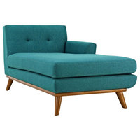 Engage Right-Facing Upholstered Fabric Chaise, Teal