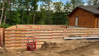 Concrete foundation for a garage addition