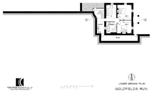 Rustic Floor Plan by Centrum Architects
