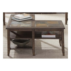 Liberty Furniture Industries, Inc. - Liberty Furniture Brookstone L Shaped  Coffee Table, Weathered