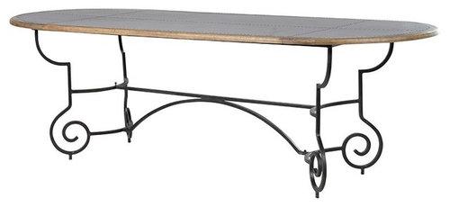 メタルフレーム・オーバルテーブル - ダイニングテーブル