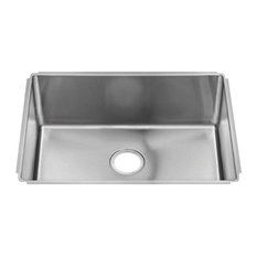 """J18 Undermount Sink With Single Bowl, Stainless Steel 18 Gallon, 29"""""""