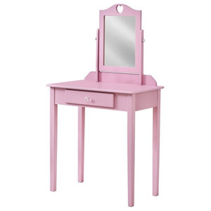 Princess Vanity Table And Chair Set Contemporary Bedroom Makeup Vanities By Wildkin