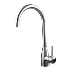 OUSIA Home Solid Brushed Stainless Steel Pull-Out Handle High Arc Kitchen Faucet