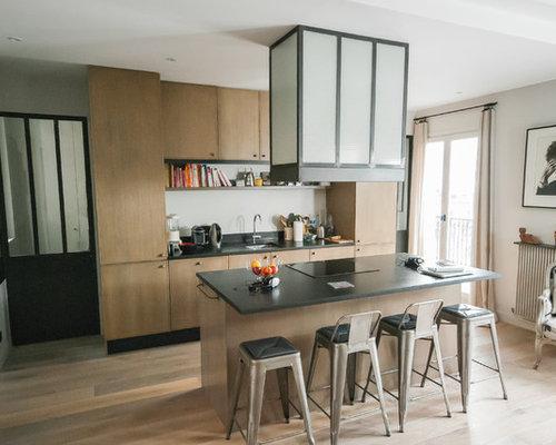 Cuisine industrielle photos et id es d co de cuisines - Cuisine avec vitre ...