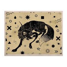 """Anya Volk """"Wolf"""" KESS Natural Canvas"""