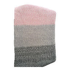 Luxury Throw Blanket, 100% Knitted Cotton, Vena Collection, Pink