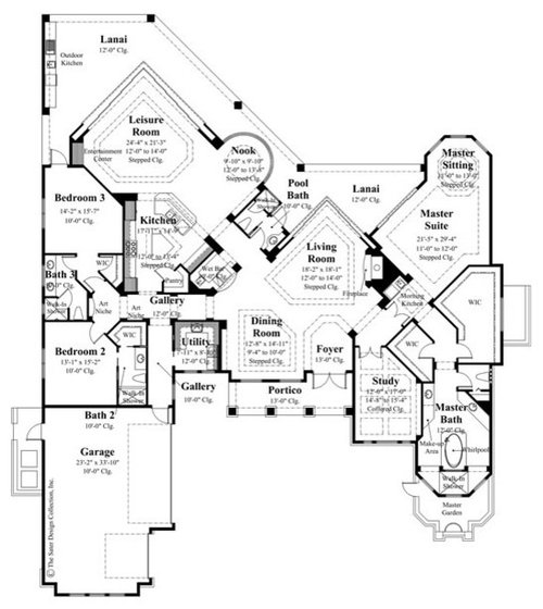 Sater design collection 39 s 8034 winthrop home plan for Sater design house plans