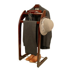 Proman Products - Proman Products Windsor Valet, Mahogany - Clothing Valets and Suit Stands