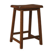 Counter Stools in Walnut Finish - Set of 2