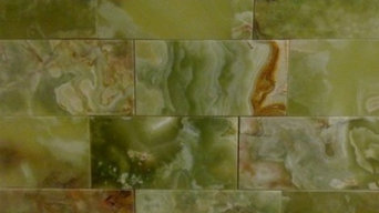 3x6 Dark Green Onyx Brick Pattern Polished Finish Mosaic Tile