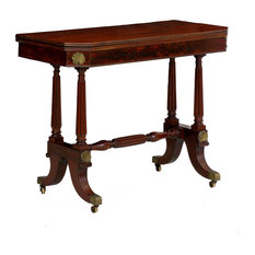 Consigned English Regency Mahogany Console Antique Card Table