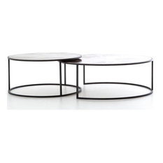 Catherine Nesting Coffee Table, Antiqued Copper