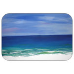 "Mary Gifts By The Beach - Beautiful Beach Plush Bath Mat, 20""x15 - Bath mats from my original art and designs. Super soft plush fabric with a non skid backing. Eco friendly water base dyes that will not fade or alter the texture of the fabric. Washable 100 % polyester and mold resistant. Great for the bath room or anywhere in the home. At 1/2 inch thick our mats are softer and more plush than the typical comfort mats.Your toes will love you."