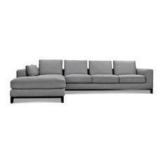 MOD   Allmonpad Sectional Sofa, Left Chaise, Gray Tweed   Sofas
