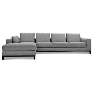 Kellan Sectional Sofa, Left Chaise, Gray Tweed