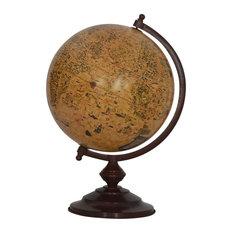 Orange Vintage Mango Wood Globe