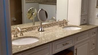 Custom Cabinets, Countertops, Tile Work
