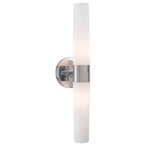 George Kovacs Saber 2-Light Bathroom Lighting Fixture, Chrome