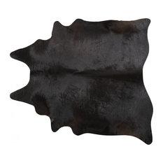 Pergamino Black Cowhide Rug, Large