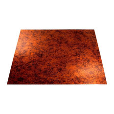 "24""x24"" Fasade Flat Panel Lay-in Ceiling Tile, Moonstone Copper"