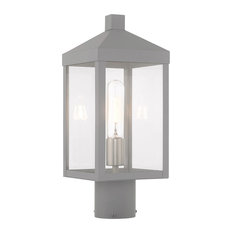 Livex Lighting Nordic Gray 1-Light Outdoor Post Top Lantern