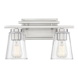 Calhoun Vanity Fixture, Satin Nickel, 2-Light