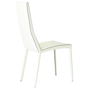 Tebe White Leather Chairs, Set of 2