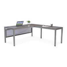 "At Work Executive L-Desk, 72""x78"" Warm Ash Laminate"