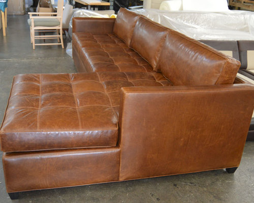 Arizona Leather Sofa Chaise Sectional In Italian Brompton Classic Vintage   Sectional  Sofas