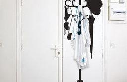 Vynil + Hanger Sticker, Black