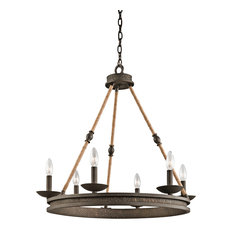 Kearn Chandelier 6-Light, Olde Bronze