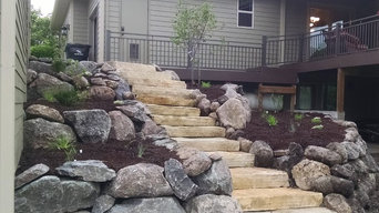 Terraced walkout with Native & Edible plantings
