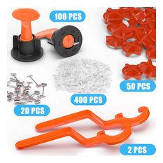 New Tile Leveling System Kit Reusable, Replaceable Pins, Smooth Rotation