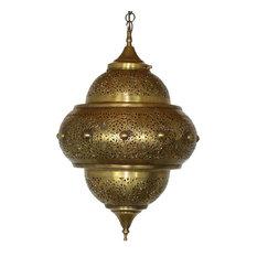 Brass Lantern with White Glass Eyelets
