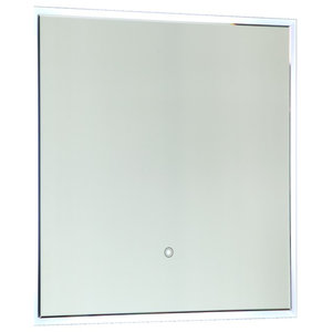 Vanity Art LED Lighted Vanity Square Bathroom Mirror With Touch Sensor