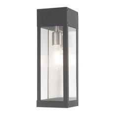 Contemporary Outdoor Wall Lantern, Scandinavian Gray