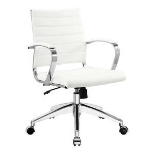 Jive Mid Back Faux Leather Office Chair, White