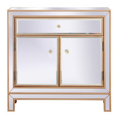 29-inch Mirrored Cabinet Antique Gold by Home Living