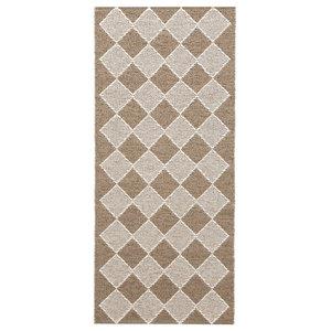 Dialog Woven Vinyl Floor Cloth, Beige, 70x200 cm