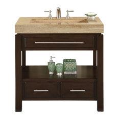 36 in. Sierra Single Sink Bathroom Vanity in Dark Walnut