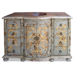 Great Traditional Bathroom Vanities And Sink Consoles by Lutina Old World Furniture