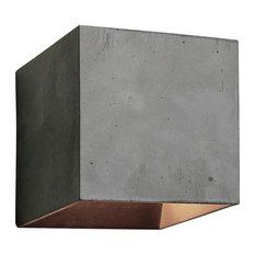 Cromia Concrete Wall Light, Dark Grey