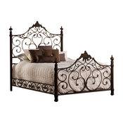 Hillsdale Furniture Baremore Bed Set, Queen with Rails, Antique Brown