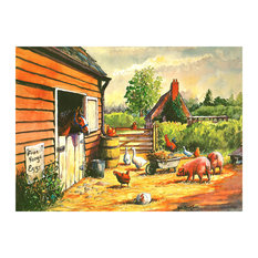 Tuftop Large Textured Worktop Saver, Farmyard, 50x40 cm